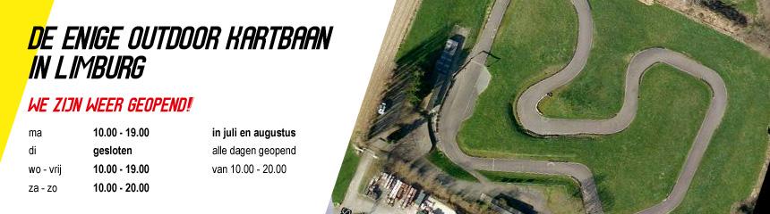 De enige outdoor kartbaan van Limburg!